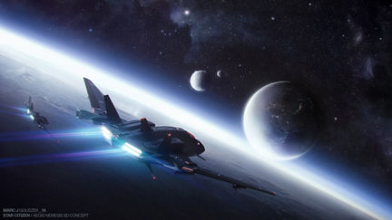 Star Citizen / Aegis Nemesis Spaceship 3D Concept Illustrations