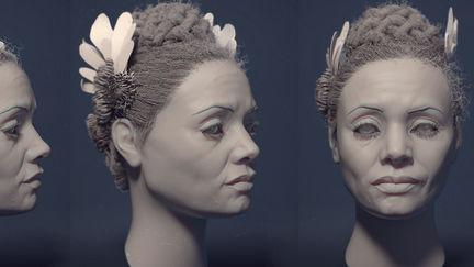 Portrait Likeness Study in Zbrush. Thandie Newton.