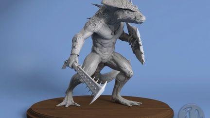 The LizardMan - Rendered