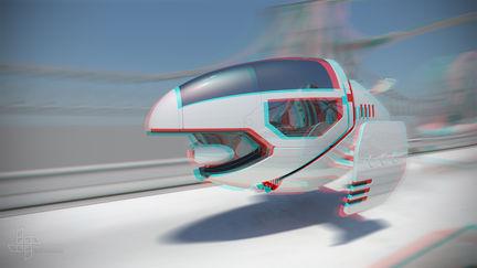 SkyBike scape (Stereoscopic Version)