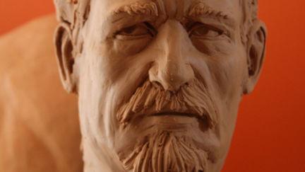 Male Head Studie - Clay Sculpting