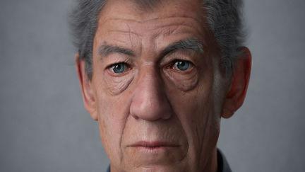 Portrait of Sir Ian McKellen.