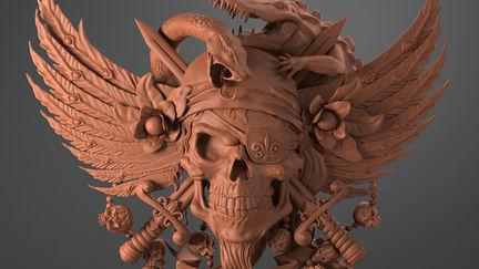 13th_skull asset