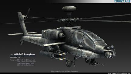 3D aircraft - AH 64D Longbow