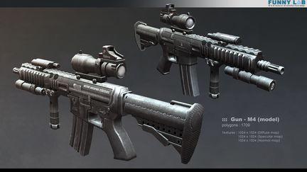 3D Prop - Gun M4