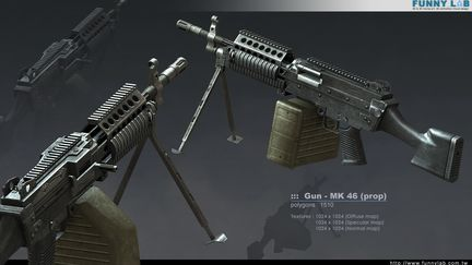 3D Prop - Gun MK46