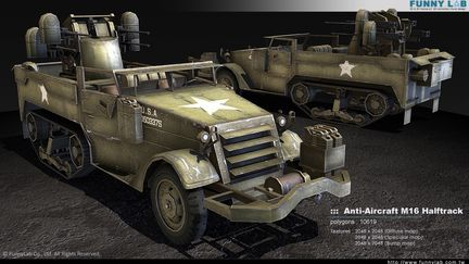 3D vehicle - Anti-Aircraft M16 Halftrack