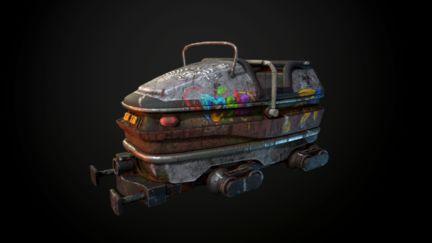 Abandoned Coaster cart