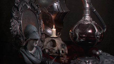 Lord Blackheart's desk