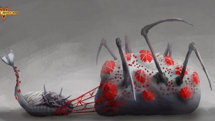 Bloody larva