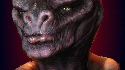 Alien portrait - Paint over