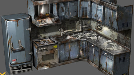 Killzone: Shadow Fall Kitchen prop