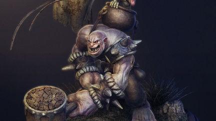 Naughty Troll And Goblin