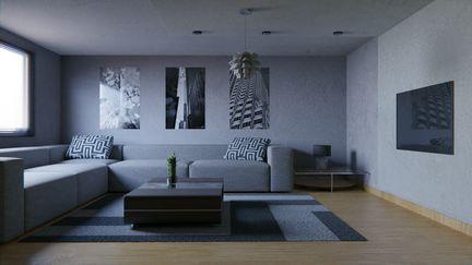 Concrete Living Room