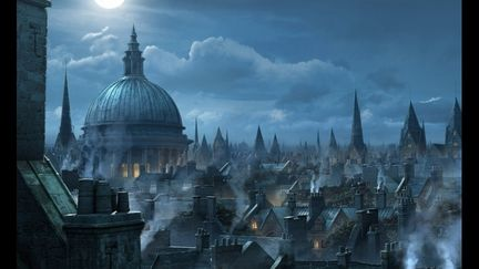 London Rooftops, Matte Painting