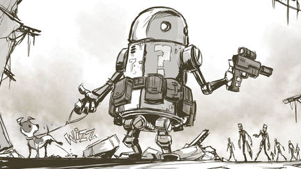 Daily Sketch - Zombies vs Robots
