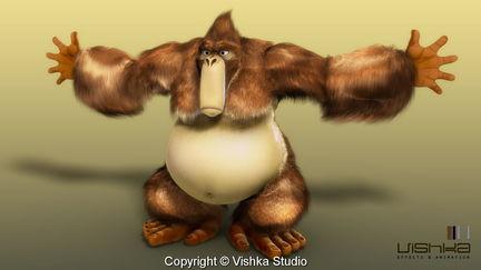 Hairy gorilla