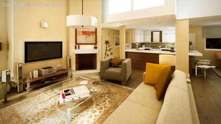 Living Room Architectural Pre-viz