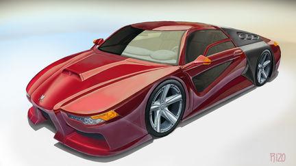 Red car prototype