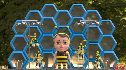 cute bee child