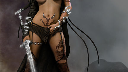 WIP render test for medusa(Luis Royo)