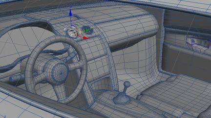 Wireframe Lamborghini Gallardo interior