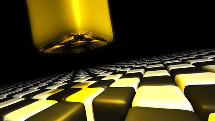Flying Golden Cube...