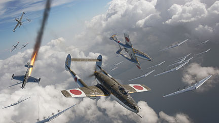 Slice & Dice: air combat over Japan, 1946...