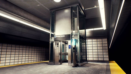 Modular VR Subway Props