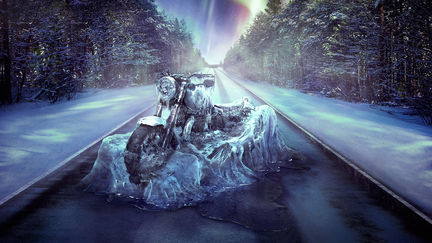 Ice Bike for the Canada Motorcycle Show