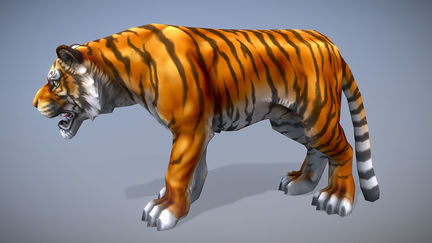 Low-Poly Tiger