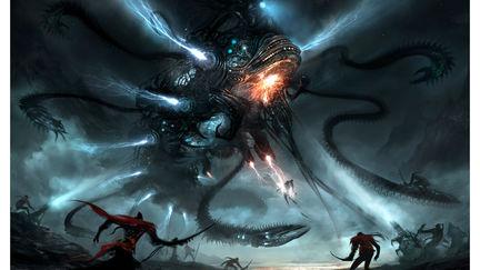 Mech-Dragon Battle