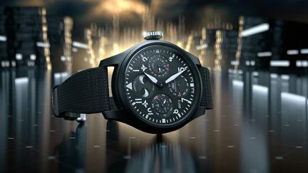 IWC Watch futuristic Visualization (Big Pilot's Watch Perpetual Calendar Top Gun)