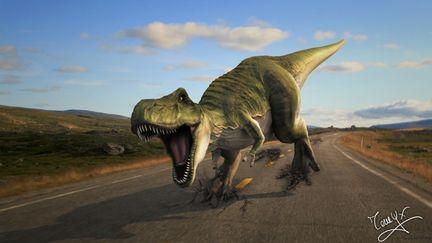 T-rex running