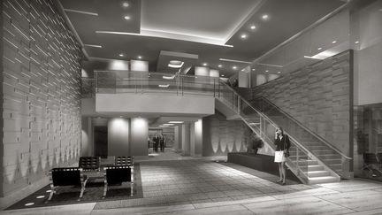 Black and White lobby