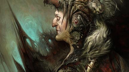 portrait of a magic warrior