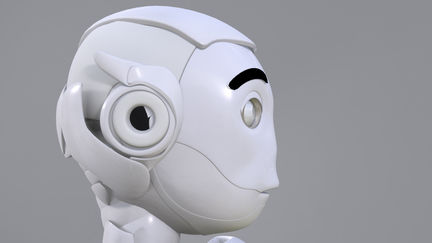 robot head profil