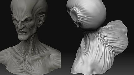 Devil shots from zbrush