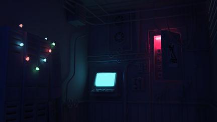 Papa Gene's Control Room - Night