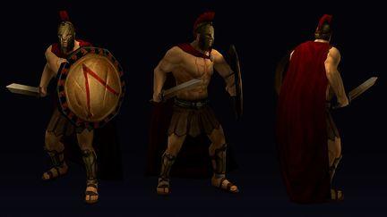 Spartan (low-poly)