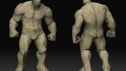 The Hulk - wireframe