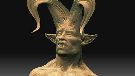 Horned Daemon - 3D Sketch