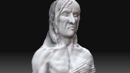 Nordic Warrior Bust - 3D Sketch