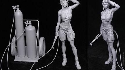 Welder Girl - 3D Print