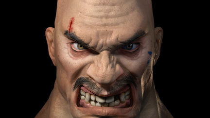 Ultra-high detail male head