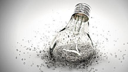 Lightbulb splash
