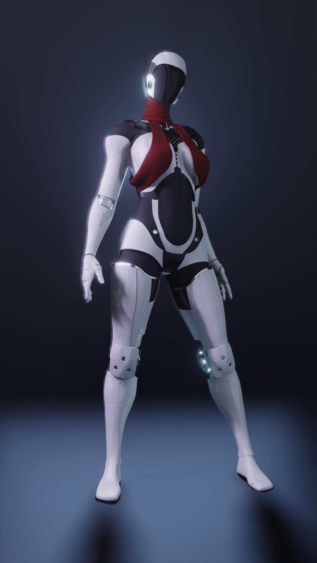 robot girl by aivarasd