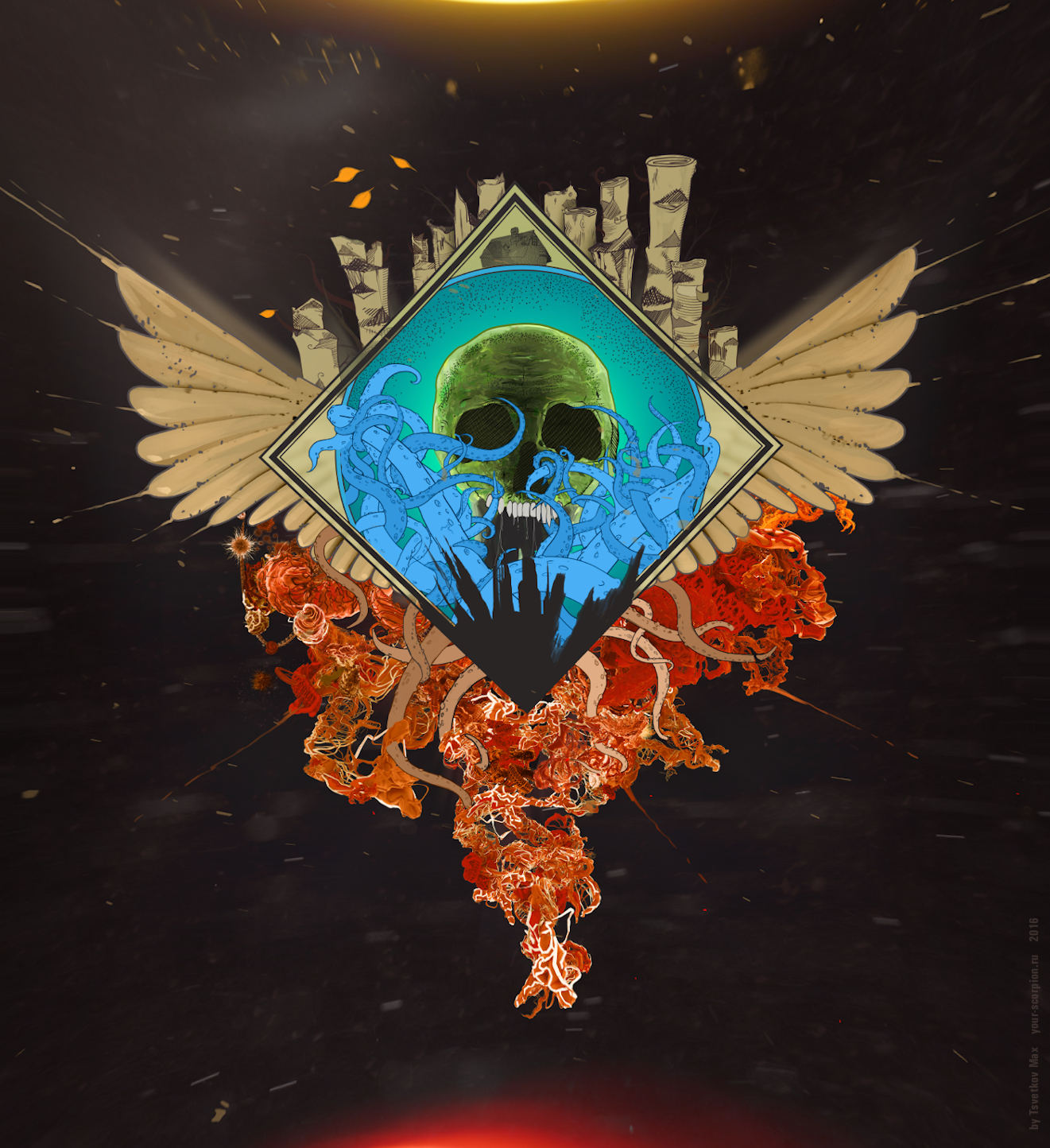 Evil skull (for a rock band)