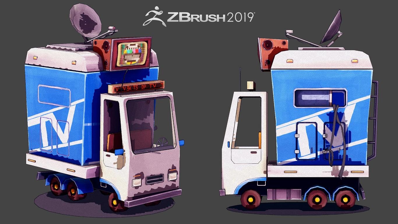 Mini Car - Zbrush 2019 NPR renders by bakhiamuoi | 3D | CGSociety
