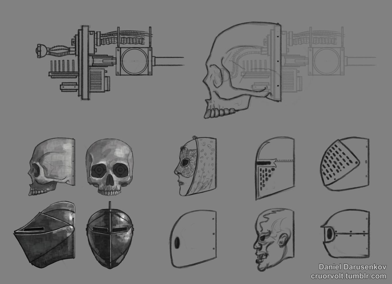 Head masks.